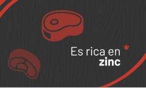 La carne es rica en Zinc